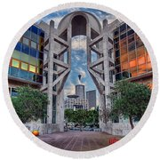 Tel Aviv Performing Arts Center Round Beach Towel