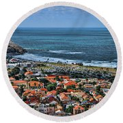 Tel Aviv Spring Time Round Beach Towel