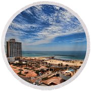 Tel Aviv Summer Time Round Beach Towel