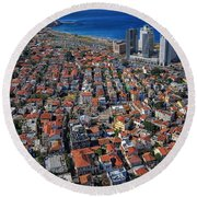 Tel Aviv - The First Neighboorhoods Round Beach Towel