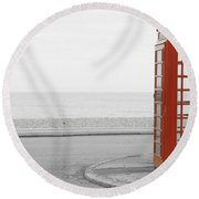 Telephone Booth Round Beach Towel