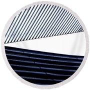 Tempe Art Center Roof Round Beach Towel