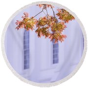 Temple Accent Round Beach Towel