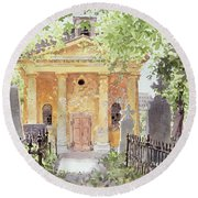 Temple Of Harmony, Vesprem, Hungary, 1996 Wc On Paper Round Beach Towel