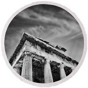Temple Of Hephaestus- Athens Round Beach Towel