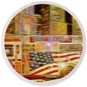 Ten Truck Round Beach Towel