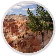 Round Beach Towel featuring the photograph Tenacious by Meghan at FireBonnet Art