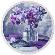 Tender Moments Still Life Round Beach Towel