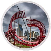 Tennessee - Nashville Through Sculpture Round Beach Towel