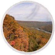 Round Beach Towel featuring the photograph Tennessee Riverboat Fall by Paul Rebmann
