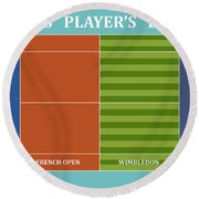 Tennis Player-s Dream Round Beach Towel by Carlos Vieira