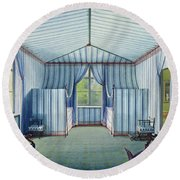 Tent Room, After 1830 Pen & Ink And Wc On Paper Round Beach Towel