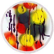 Tentacles And Entanglements Round Beach Towel by Roberto Prusso