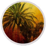 Tequila Sunrise Round Beach Towel by Jan Amiss Photography