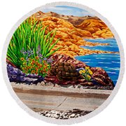 Teri1 Round Beach Towel