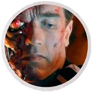 Terminator Round Beach Towel by Paul Tagliamonte