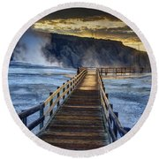 Terrace Boardwalk Round Beach Towel