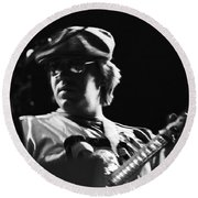 Terry Kath At The Cow Palace In 1976 Round Beach Towel