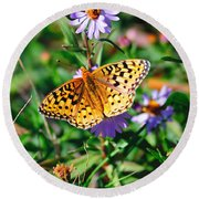 Teton Butterfly Round Beach Towel