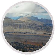 Teton Canyon Shelf Round Beach Towel