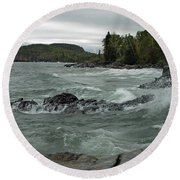 Tettegouche State Park Round Beach Towel by James Peterson