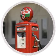 - Tokheim Gas Pump Round Beach Towel by Mike McGlothlen