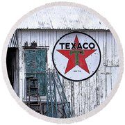 Texaco Times Past Round Beach Towel