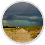 Texas Blue Thunder Round Beach Towel by Ed Sweeney