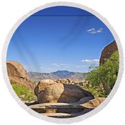Texas Canyon 2 Round Beach Towel