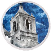 Mission San Jose Round Beach Towel