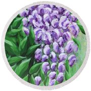 Texas Mountain Laurel Round Beach Towel