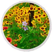 Texas Spring Delight Round Beach Towel by Lynn Bauer