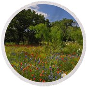 Texas Spring Spectacular Round Beach Towel