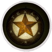Texas Star Round Beach Towel