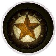 Texas Star Round Beach Towel