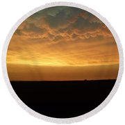 Round Beach Towel featuring the photograph Texas Sunset by Ed Sweeney