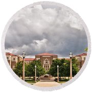 Round Beach Towel featuring the photograph School Of Education by Mae Wertz