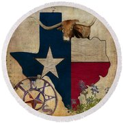Texas Round Beach Towel