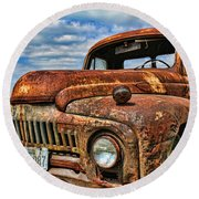 Round Beach Towel featuring the photograph Texas Truck by Daniel Sheldon