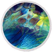 Textured Abstract 5 Round Beach Towel