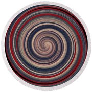 Textured Matt Finish Round Beach Towel by Catherine Lott