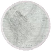 Textured Stone Background Round Beach Towel