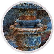 Texturized Pipe Round Beach Towel