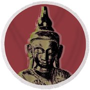 Thai Buddha #1 Round Beach Towel