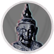 Thai Buddha #2 Round Beach Towel