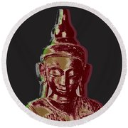 Thai Buddha #3 Round Beach Towel
