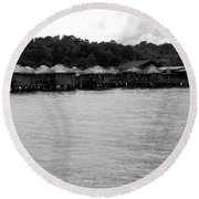 Round Beach Towel featuring the photograph Thai Village by Andrea Anderegg