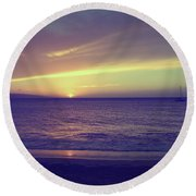 That Peaceful Feeling Round Beach Towel by Laurie Search