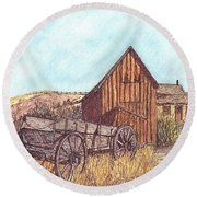 That Which Once Was Round Beach Towel by Carol Wisniewski