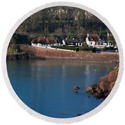 Thatched Cottages, Dunmore Strand Round Beach Towel